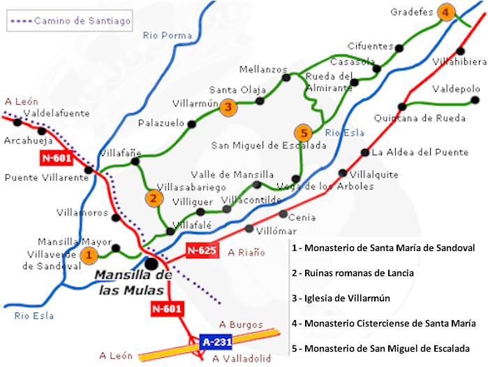 Resultado de imagen de ruta de los monasterios, león